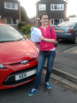Congratulations Kate a well deserved pass with only 3 minor faults. Good luck with the teacher training at Derby. See you when you return to Worcester to do a Pass Plus course. Drive Safe!...