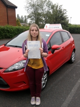 Congratulations Grace. A well deserved first time pass today. Hopefully see you soon for a Pass Plus course before you drive on the motorway to start University. Once again well done and drive safe!...