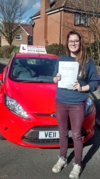 Congratulations Bobbie. Passed your driving test today with only 4 minor faults. Well done, all the best for the future at Uni. Drive Safe!...