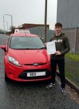 Well done Brad Passed your driving test first time today with only 1 minor fault Great result Drive Safe mate
