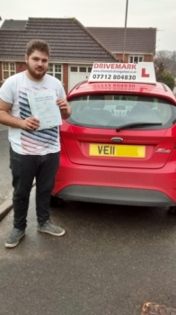 Well done Dave. Passed your driving test first time today with only