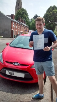 Well done Dec passed your driving test today with only 3 minor faults Great result Drive safe