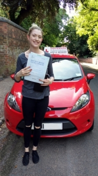 Well done Rosie passed your driving test today with only 3 minor faults Great result take care in your new car and Drive Safe