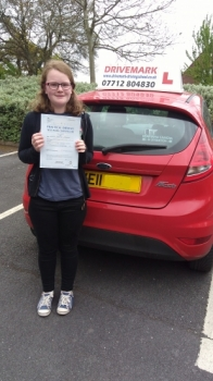 Well done Immy passed your driving test first time today Told you all the hard work would pay off Be careful when you get out on the road solo Drive Safe