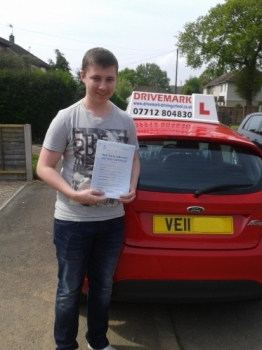 Well done Jack passed your driving test today with only 2 minor faults. Take care mate and Drive Safe!...
