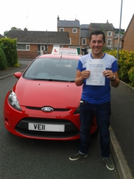 Well done Steve on Passing your driving test today. Take it easy mate and Drive Safe!...