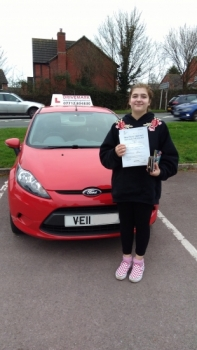 Well done Beth. Passed your driving test 'First Time' today with flying colours. Take care..Drive Safe!